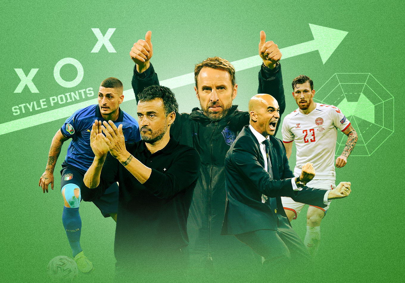 Euro 2020's Eight Remaining Teams Compared in Eight Phases of Play